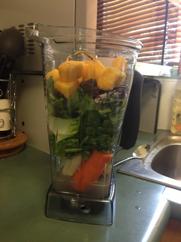 Oh yeah! I bought a vitamix. The best investment ever. This is what I have for most breakfasts now.